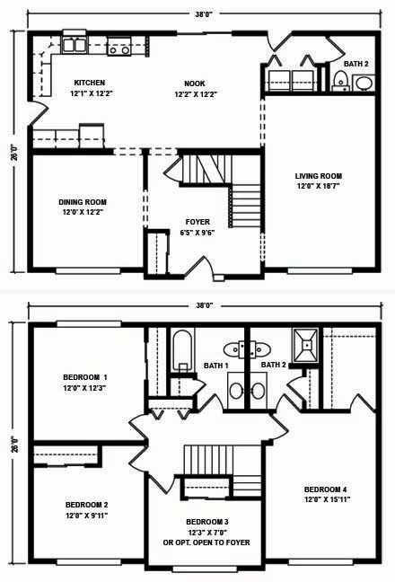 North Mountain Modular Two Story Floor Plans
